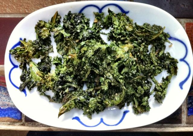 Chips af grønkål