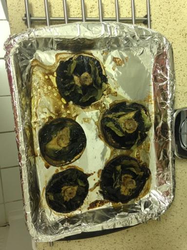 Ovnbagte portobello med kryddersmør